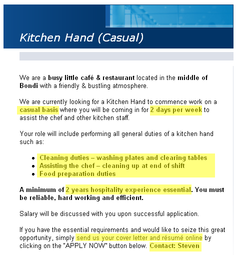 Kitchen Hand Resume,Kitchen Hand Resume Sample Job Handover ...